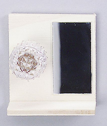 Espejo-de-bao-con-estantera-Iluminado-Lmpara-miniatura-Para-Dollhouse