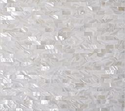 White Mother of Pearl Tile Shell Mosaic Tile for Kitchen Backsplashes, Bathroom Walls, Spas, Pools (1)