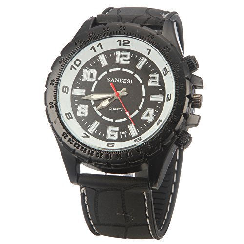 Guijiao8 High Quality Black Dial Japanese Quartz Movement Silicone Strap Watch Graduation Gift