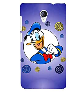 Printvisa donald duck in blue background Back Case Cover for Micromax Canvas Unite 2 A106