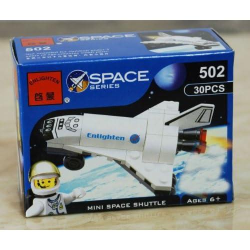 Enlighten #502 (boxed) mini space shuttle 30pc building block set fits