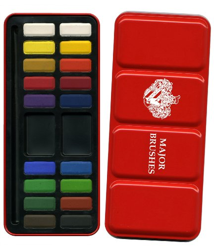 18-Block Artist Watercolour Paint Set in Metal Tin