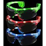 12ct LED Light Up Sporty Sunglasses - Assorted Flashing Lights