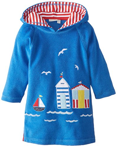 Jojo Maman Bebe Baby Boys' Toweling Hooded Pull On, Blue, 12 24 Months