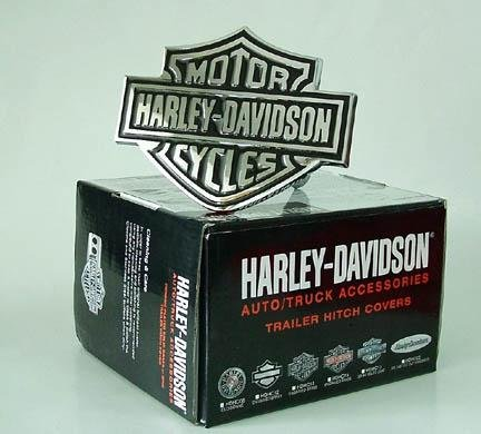 Review Harley-Davidson Hitch Cover - Black/Chrome