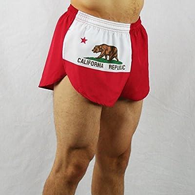 """BOA Men's 1"""" Elite Split Leg California Flag Running Short(1000CP)"""
