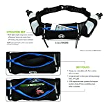 Hydration Belt for Running - Includes Accessories and Two 10-Ounce BPA-Free and Leak-Proof Water Bottles : Bounce-Free & Lightweight Fuel Gear