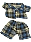 "Flannel PJ's Clothes Outfit Fit 14"" - 18"" Build-A-Bear, Vermont Teddy Bears, and Make Your Own Stuffed Animals"