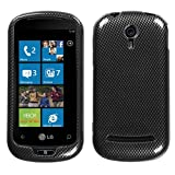 Carbon Fiber Phone Protector Cover for LG C900 (Quantum)