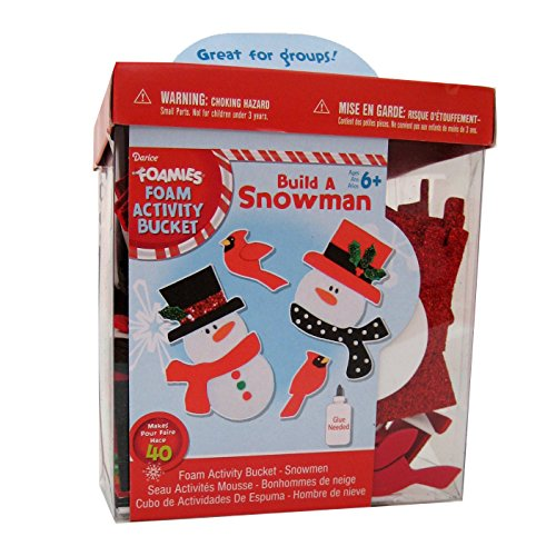 Foamies® Group Activity Bucket - Glitter Snowmen