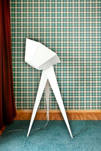 frauMaier Stehleuchte Jean Stehleuchte – Trittschalter – weiß (silber) Felix S. Mack, pulverbeschichteter Stahl, Aluminium, Acrylglas