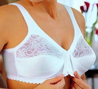 Glamorise Women's Magic Lift Front Hook Bra,White,US 58DD