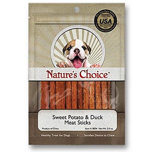 Nature's Choice Sweet Potato & Duck Soft Chew Meat Sticks contains Glucosamine & Chondroitin for Hip & Joint Health 2oz by Loving Pets (Loving Pets Meat Sticks compare prices)