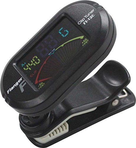 Flanger FT-12C Clip-on Chromatic Tuner color display Clip tuner