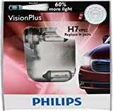 Philips H7 VisionPlus Replacement Bulb, (Pack of 2)