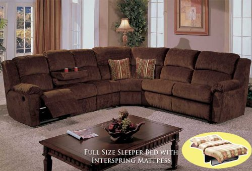 Save On 4pcs Sectional Fabric Full Bed Recliner Sofa BQ S096P1 For Sale