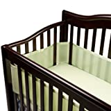 BreathableBaby Crib Bumper for Slatted Cribs, Sage