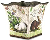 Michel Design Works Tin Bucket, Large, Bunnies