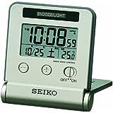 SEIKO CLOCK(セイコークロック) 夜間点灯電波デジタルトラベラ(薄金) SQ772G