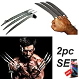 2PC Set XMEN Wolverine CLAW Stainless Steel XCLAW Fantasy Knife Replica + eBOOK by MOON KNIVES