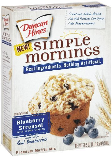 Duncan Hines Simple Mornings Whole Grain Blueberry Streusel Muffin Mix 20.5 oz (Pack of 3) (Simple Mornings Muffin Mix compare prices)