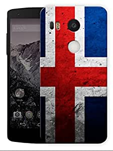 "Humor Gang Iceland Flag Printed Designer Mobile Back Cover For ""Lg Google Nexus 5X"" (3D, Matte, Premium Quality Snap On Case)"