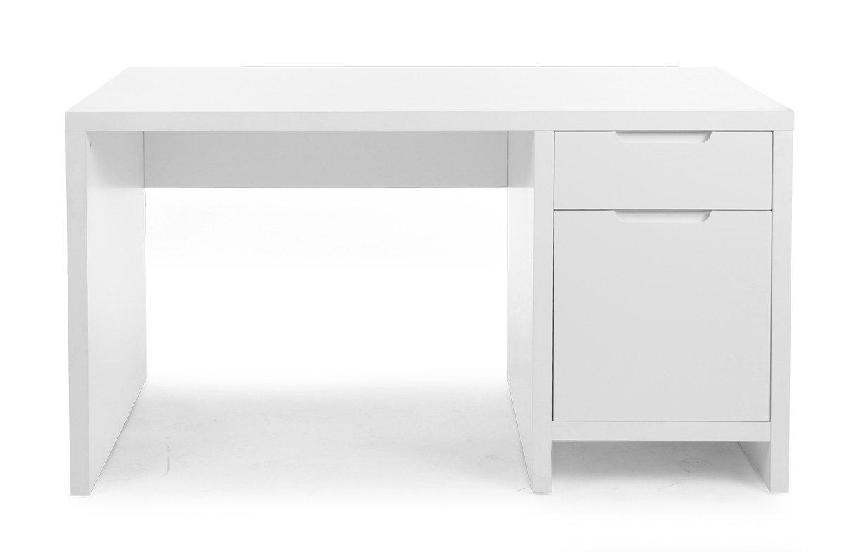 Schreibtisch – QUADRO NEW – Schreibtisch, Weiß, Größe: 75x140x70 cm, 2 Schubladen