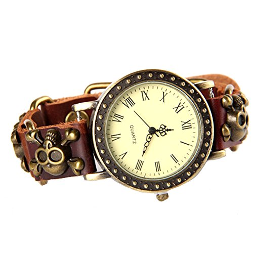 gspstyle-leather-alloy-joint-splice-bracelet-womens-watch-sliver-skull-colour-brown