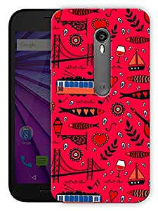 """Humor Gang Abstract City Life Pattern Printed Designer Mobile Back Cover For """"Motorola Moto X Style"""" (3D, Matte, Premium Quality Snap On Case)"""