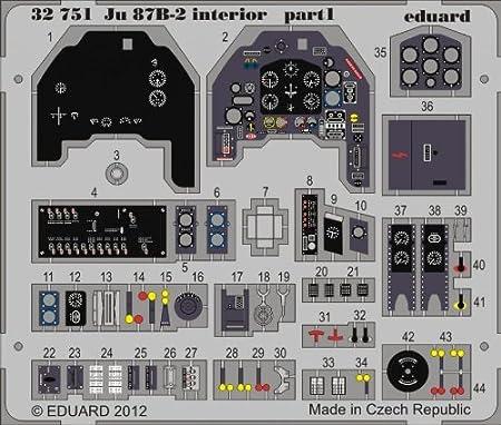 Junkers Ju 87B-2 intérieur (auto adhésif) (conçu pour les maquettes Trumpeter)