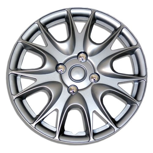 TuningPros WSC-533S15 Hubcaps Wheel Skin Cover 15-Inches Silver Set of 4 (Honda Accord Rims Set Of 4 compare prices)