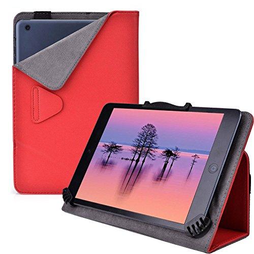 Cooper Cases (TM) Infinite Cam Universelle Foliohülle für Lenovo IdeaTab S5000 / LePad S2007 / Miix 2 8 in Rot (universelle Passform, integrierte Standfunktion, elastisches Band als Hüllenverschluss)
