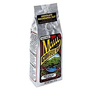 Maui Coffee Company 20% Maui Blend Chocolate Macadamia Nut Coffee (Whole Bean), 7-Ounces (Pack of 3)