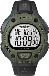 Timex - T5K520SU - IRONMAN Running 30 LAP - Montre Sport Homme - Bracelet Résine  - Chronomètre - Mémoire de 30 circuits