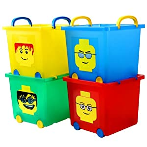 Iris Lego Stack Basket 4-pc. Set