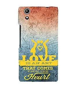 EPICCASE love is an art Mobile Back Case Cover For Micromax Canvas Selfie Lens Q345 (Designer Case)