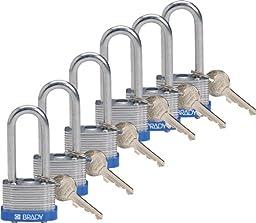 Brady 118974 Blue, Key Retaining Steel PadLock - 2\