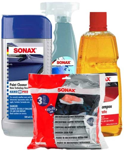 Top products best review sonax premium car wash wax kit automotive car care interior care for Best interior car care products