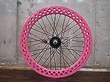 ピンク 20インチ ※自転車ホイール フロントホイール単品 シングルスピード ピストバイク ミニベロ