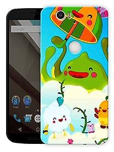 "Humor Gang Cute Cartoon Printed Designer Mobile Back Cover For ""Google Nexus 6 Plus"" (3D, Matte Finish, Premium Quality, Protective Snap On Slim Hard Phone Case, Multi Color)"
