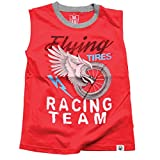 Wes and Willy Little Boys' Flying Tires Muscle Tee