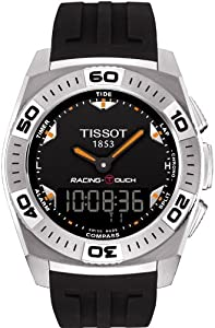 Tissot Men's T002.520.17.051.02 Black Dial Racing Touch Watch