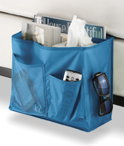 Fantastic Deal! Savvy Blue Bedside Caddy by Whitmor