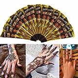 Temporary Tattoos - 3pcs Black NaturalHenna Cone Temporary Tattoo Body Art Tattoos Hair Loss -Paste Cones Packing Machine Brown Cone
