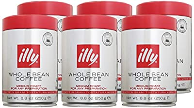 Illy Espresso Whole Bean Medium Roast 250g (6-pack)