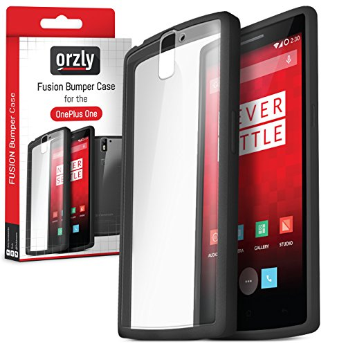 Orzly® - FUSION Bumper Case per OnePlus ONE - COPERTINA / CUSTODIA Fusión in NERO (CHARCOAL BLACK) con Posteriore Transparente - Designed for ONE PLUS ONE SmartPhone (Alias: Flagship Model of Smart Phone named ONE Released by ONE PLUS / New 2014 Release / Original Premier Launch Version / ONE PLUS ONE / OPO / etc.) - Fits ALL Models and Versions from 2014 Original Version and onwards