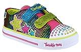 Skechers SK10249N Twinkle Toes Lights Childrens Kids Sports Shoe Fabric Lined