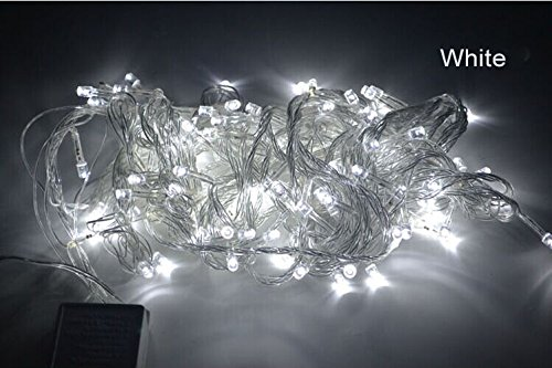 Royoled 10M 100 Led String Fairy Light For Wedding,Christmas,Party, Holiday(White With Tail Plug)