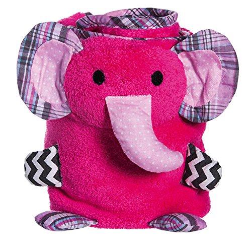 Pink Elephant Rolled Blanket
