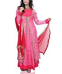 Amitas Boutique Partywear dress Pink & Red